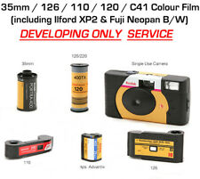 COLOUR FILM DEVELOP ONLY - 35mm / 126 / 110 / 120 / APS / Single Use Cameras