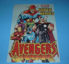 MARVEL COMICS HEROES THE AVENGERS POSTER BLACK PANTHER,HAWKEYE,THOR,VISION,CAPT