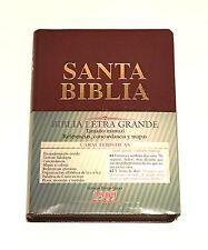 Biblia versión 1909 Letra Grande Piel Rojo ¡Gratis su nombre!