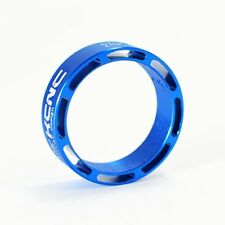 KCNC Hollow Alloy Headset Spacer, 10mm, Blue