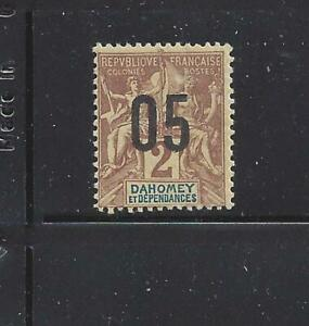 """FRENCH WEST AFR-DAHOMEY - 32,34-37 - MH -1912 -""""05"""" O/P ON NAVIGATION & COMMERCE"""