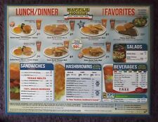 Set/4 Waffle House Laminated Place Mat Placemat Menu Menus Great 4 Retro Kitchen