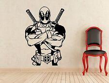 Deadpool Wall Decal Superheroes Comics Vinyl Sticker Home Art Decor Mural (301z)