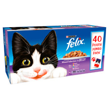 Felix Mixed Selection in Jelly Wet Cat Food Pouches - 40 x 100g