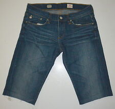 Womens 27 Adriano Goldschmied Tomboy Relaxed Straight Denim Cotton Shorts