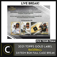 2021 Caja de béisbol 16 TOPPS GOLD Etiqueta (Completo Funda) romper #A1234 - Elige Tu Equipo