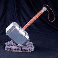 1:1 The Avengers Full Metal Thor Hammer Replica Cosplay Prop Mjolnir Decor Gift