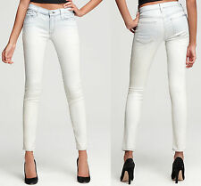 NWT 7 For All Mankind The Skinny Coated Light Blue Icy Luster Shimmer Jeans 28