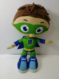 "Super Why Talking WYATT Plush 12"" Doll Save the Day Green Whyatt"