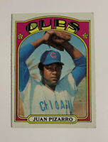 1972 Topps Juan Pizarro # 18 Baseball Card Chicago Cubs Yellow