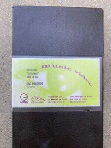 Rare Nirvana Collectible VHS Lithium DGC Records 6/9/92 Geffen Music Videos