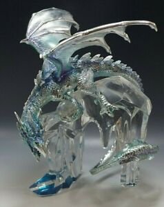 FRANKLIN MINT LORD OF THE ICY REALM DRAGON ON CRYSTAL MICHAEL WHELAN FIGURINE