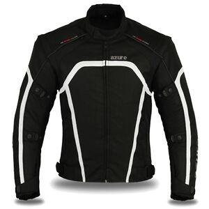 Motorbike Motorcycle Waterproof Racing Cordura Textile Jacket Black, XL-1