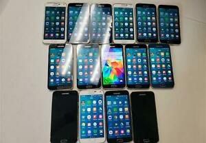 AS IS LOT OF 15 Samsung Galaxy S5 SMG900 16G Black,White and Blue ATT&VERIZON&T