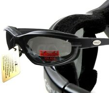 Curv-Z foam insulated motorcycle skydive glasses Black Frame Mirror Lens 02-05