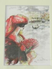 Michèle SALMON Le pont des soupirs Venise aquarelle originale bien encadrée
