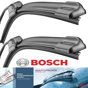2 Bosch Clear Advantage Wiper Blades For 2012-2013 Tesla Model S Exact Fitment