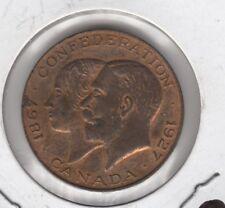 1927 Canada Bronze Confederation 60th Anniversary Medal