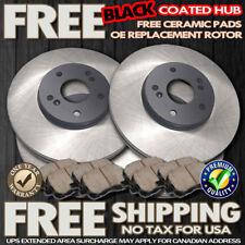 O1138 FIT Front & Rear BLACK HUB BRAKE ROTORS & CERAMIC PADS 2001-2007 Ford E250