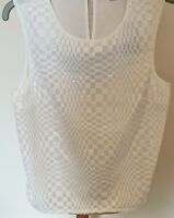 NWT Dorothy Perkins Women Ladies Sleeveless Sparkle White Evening Tops Blouse