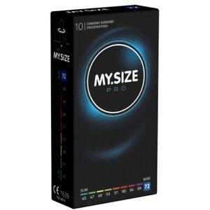 Frei Haus: My.Size PRO 72mm, 10 Kondome nach Maß, Maßkondome, Größe 72, XXXL