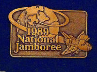 1989 Boy Scout National Jamboree Solid Brass Vintage Belt Buckle!