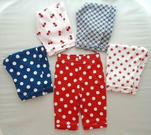 Baby Girls Boys Trousers High Baggy Clothes Real Nappy Handmade Cotton Red Blue