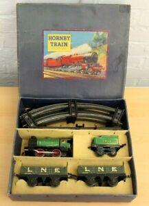 Vintage Hornby O Gauge M1 Clockwork Goods Train Set, Boxed