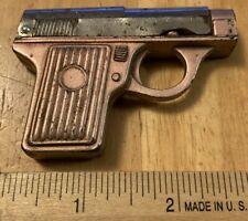 Vintage Metal Gun Pistol Pencil Sharpener - Pink - FREE SHIPPING