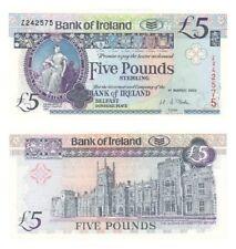 Bank of Ireland £5 REPLACEMENT Z Prefix - BYB ref: NI.216b - UNC.