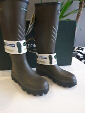 le chameau BTE Ceres Security wellingtons Hunting Boots  size 41 UK 7 Marron