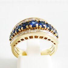 Ring Gold 750er Brillanten Saphir 18 kt. Goldschmuck Edelsteine exclusiv Diamant