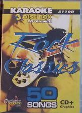 Chartbuster karaoké CDG rock classics (5110R) 3 disc box set 50 pistes nouvelles