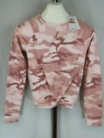 Love Tribe Womens Ladies Pink Camo Long Sleeve T-Shirt Size XS NEW