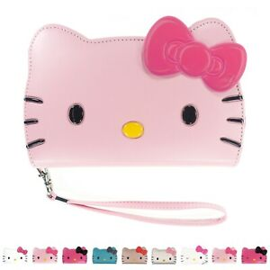 HELLO KITTY Face Wallet Flip Cover for iPhone 13 12 11 Pro Max mini XS XR 8 Case