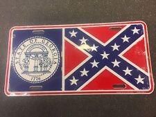 License Plate Georgia State Seal 1776 , GEORGIA STATE Flag, Vintage Style