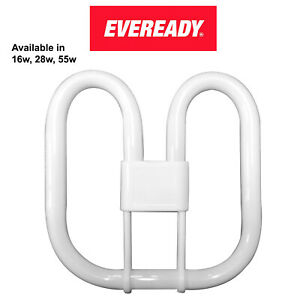 EVEREADY 2D 2 4 Pin 16W 28W 55W Compact Fluorescent Energy Saving Bulb White