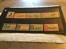 Turks & Caicos Islands M/mint Stamps Lot Circ 1957