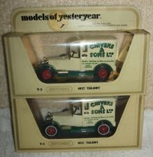 MATCHBOX (RARE VERSION ) YESTERYEAR MODEL`S  *** Y-5 1927 TALBOT - CHIVER`S ***