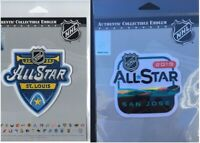 2019 & 2020 NHL ALL STAR GAME OFFICIAL PATCH SET NATIONAL HOCKEY LEAGUE OFFICIAL