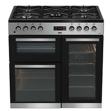 Beko KDVF90S 90cm Dual Fuel Range Cooker in Silver 5 Hotplate Burners