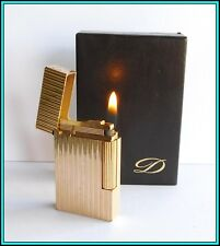 S.T. Dupont Line 2 Gold Plated Lighter / Briquet - With Box - JUST SERVICED