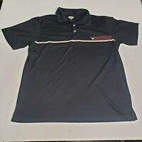 Callaway Golf Mens XL Black Polo Shirt Logo on Front