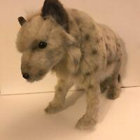 """Posable Plush HANSA Spotted hyena Stuffed Soft Wild Animal 14"""" long"""