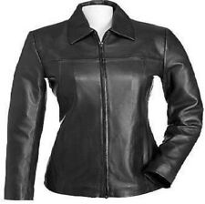 Women Leather Jacket Classic Soft Lamb Fashion Stylish Ladies Straight Jacket
