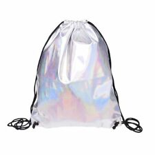 Shiny Hiking Gym Bag Backpack School Bookbags holo graphic smooth String Ba Y5F4