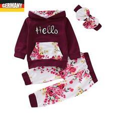 DE Mädchen Sportanzug Traininganzug Kapuzenpullover Sweater + Hose Outfits Set