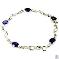 formschön Amethyst Silber lila Armband Indien l-7.5in de