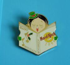 Hard rock cafe pin badge caroller girl with hat & freckles Ft Lauderdale 1999