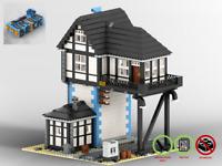 Eisenbahn Stellwerk - Bahn MOC - PDF-Bauanleitung - kompatibel mit LEGO Steine